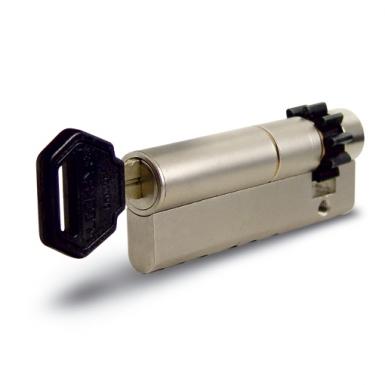 Halbzylinder einseitig, mit Sicherheitsmechanismus L 52 und Zahnrad