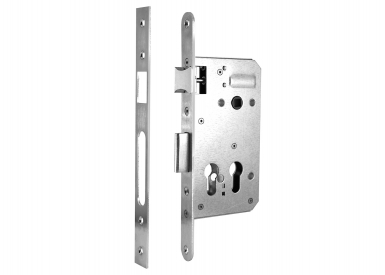 """Eingebautes Türschloss mit Öffnungen für Sicherheitsschloss """"Double"""" in Х"""