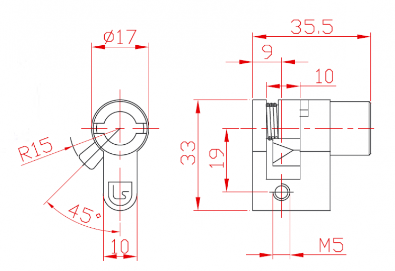 Ключалка автоматична Евро
